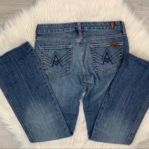 7 For All Mankind Jeans - 7FAMK Women's A Pocket Flare Jeans 29